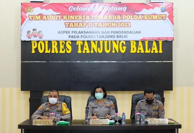 Kunjungan Tim Audit Kinerja Itwasda Polda Sumut Tahap II Tahun 2021 Ke Polres Tanjungbalai