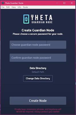 Theta Create Guardian Node Step2