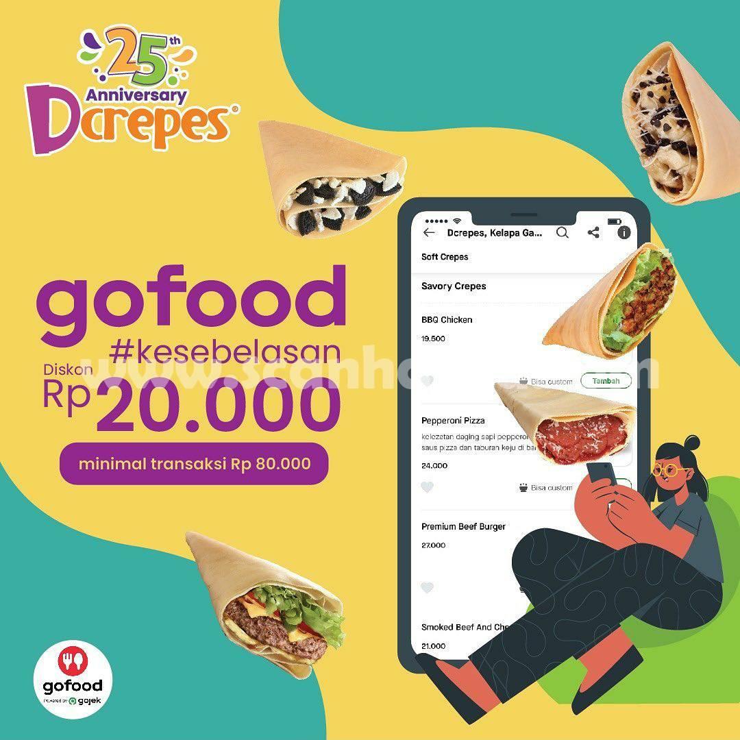DCREPES Promo KESEBELASAN GOFOOD – DISKON Rp. 20.000