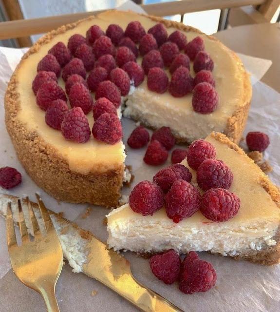 Torta de queijo e iogurte