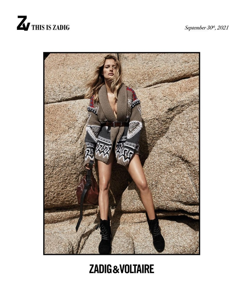 Zadig & Voltaire taps leading model Edita Vilkeviciute as the face of its fall-winter 2021 campaign