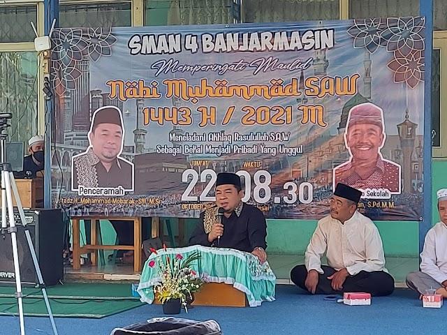 Peringati Maulid Nabi Muhammad SAW, Kepsek SMAN 4 Harapkan Siswa Tauladani Rasulullah