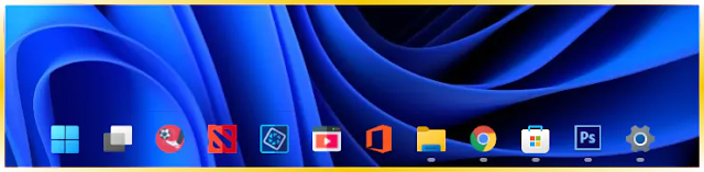 Membuat Taskbar Windows 11 Menjadi Transpara