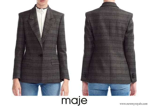 Princess Marie wore a vanda plaid blazer from Maje