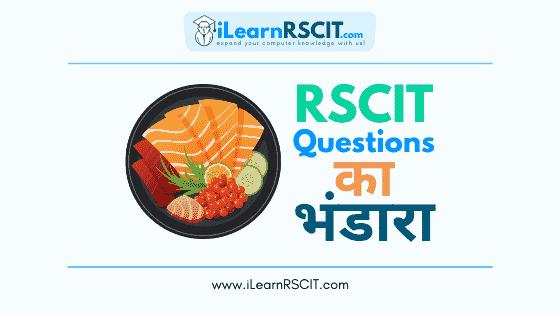 ilearnrscit RSCIT Questions ka Bhandara, ilearnrscit rscit questions