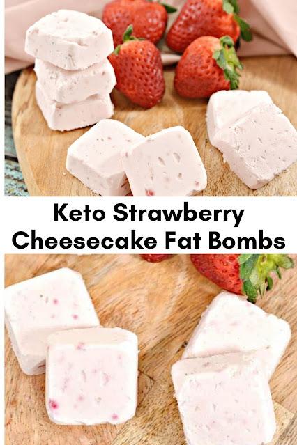 KETO STRAWBERRY CHEESECAKE FAT BOMBS
