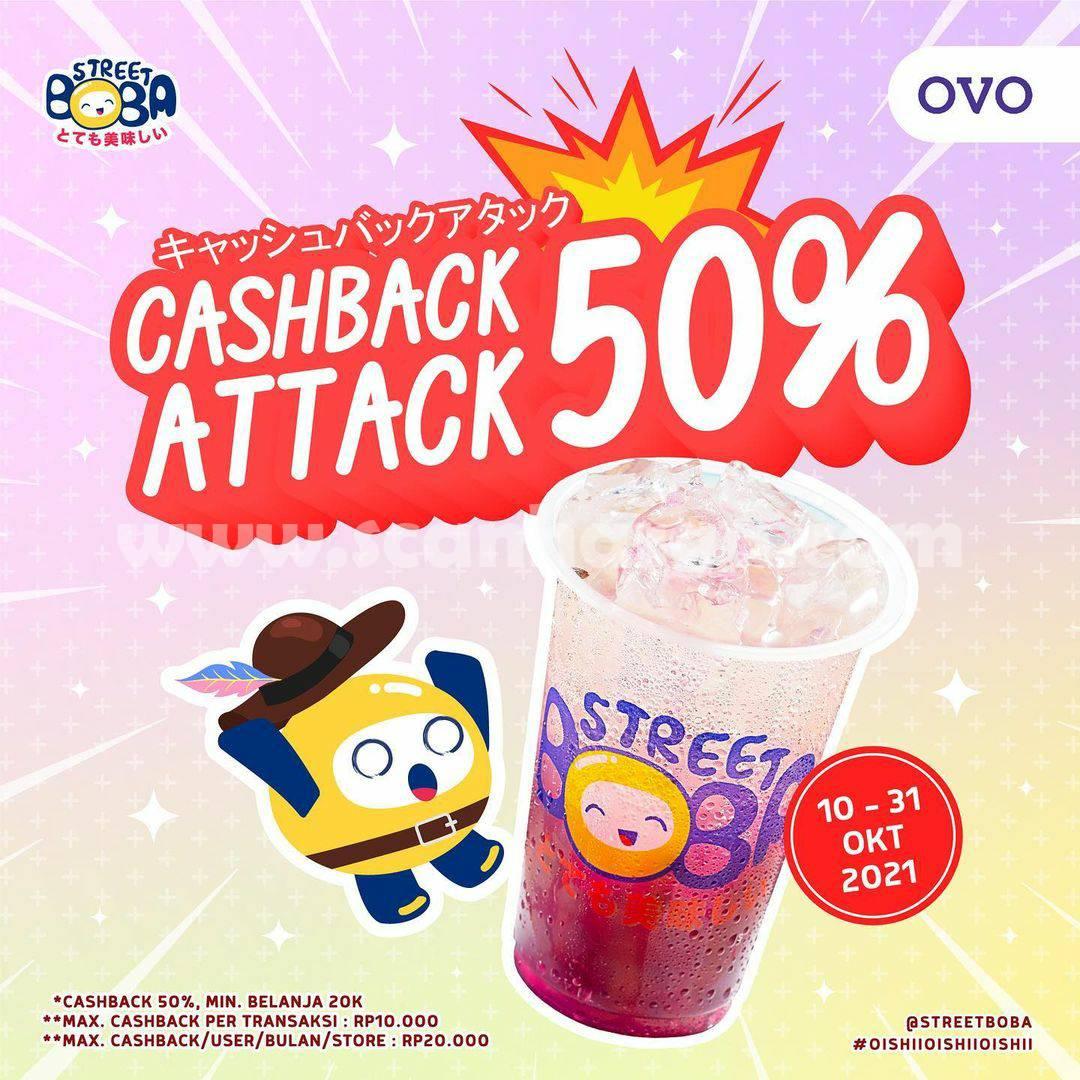 Promo Street Boba Cashback Attack 50% Pakai OVO