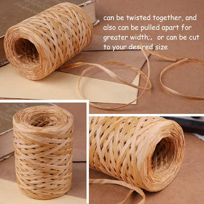 Natural Raffia Ribbon for Crafts and Decoration