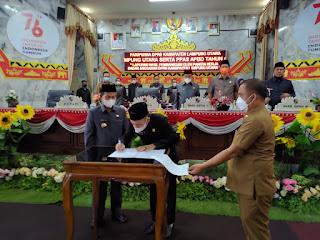DPRD Lampung Utara Gelar Empat Sidang Paripurna Sekaligus