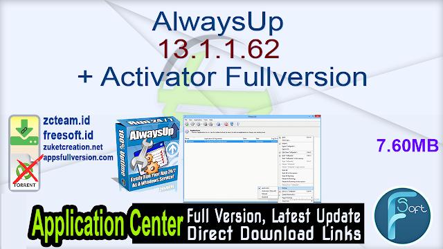 AlwaysUp 13.1.1.62 + Activator Fullversion