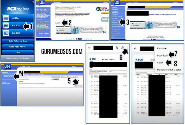 Cetak Rekening Koran BCA Via Mobile Banking