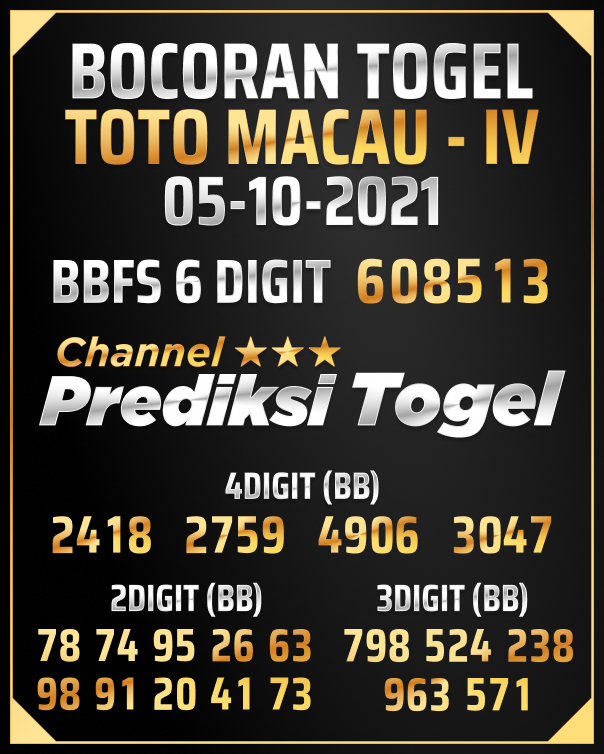 Angka Jitu Toto Macau IV