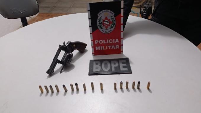 POLÍCIA MILITAR PRENDE INDIVÍDUO ARMADO E DE ALTA PERICULOSIDADE NA CIDADE DE PATOS