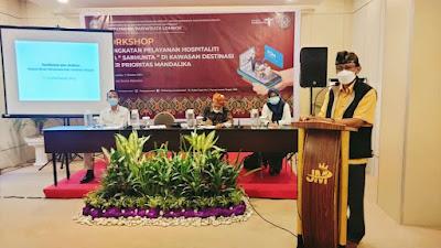 Poltekpar Lombok Gelar Bimtek Pelayanan Tamu untuk pengelola Sarhunta di Kawasan DSP Mandalika