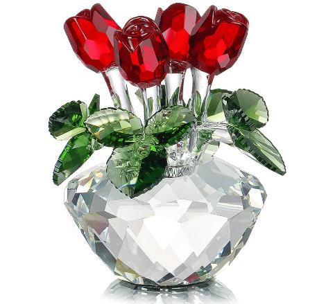 crystal red rose
