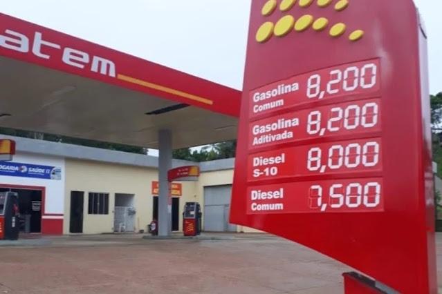 Moradores de cidade do Acre pagam R$ 8,20 pelo litro da gasolina