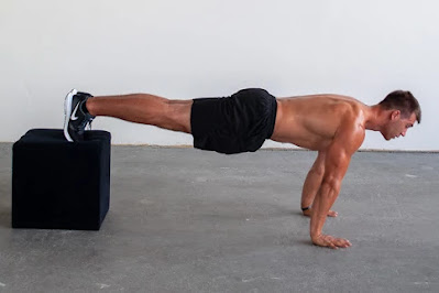 decline push-up, full body workout muscle and strength
