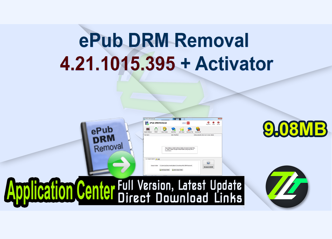 ePub DRM Removal 4.21.1015.395 + Activator