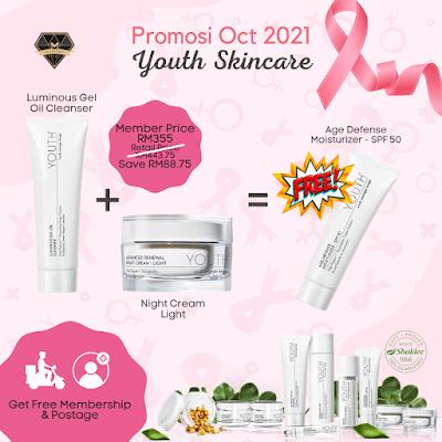 Promosi Shaklee Oct 2021 - Youth Skincare