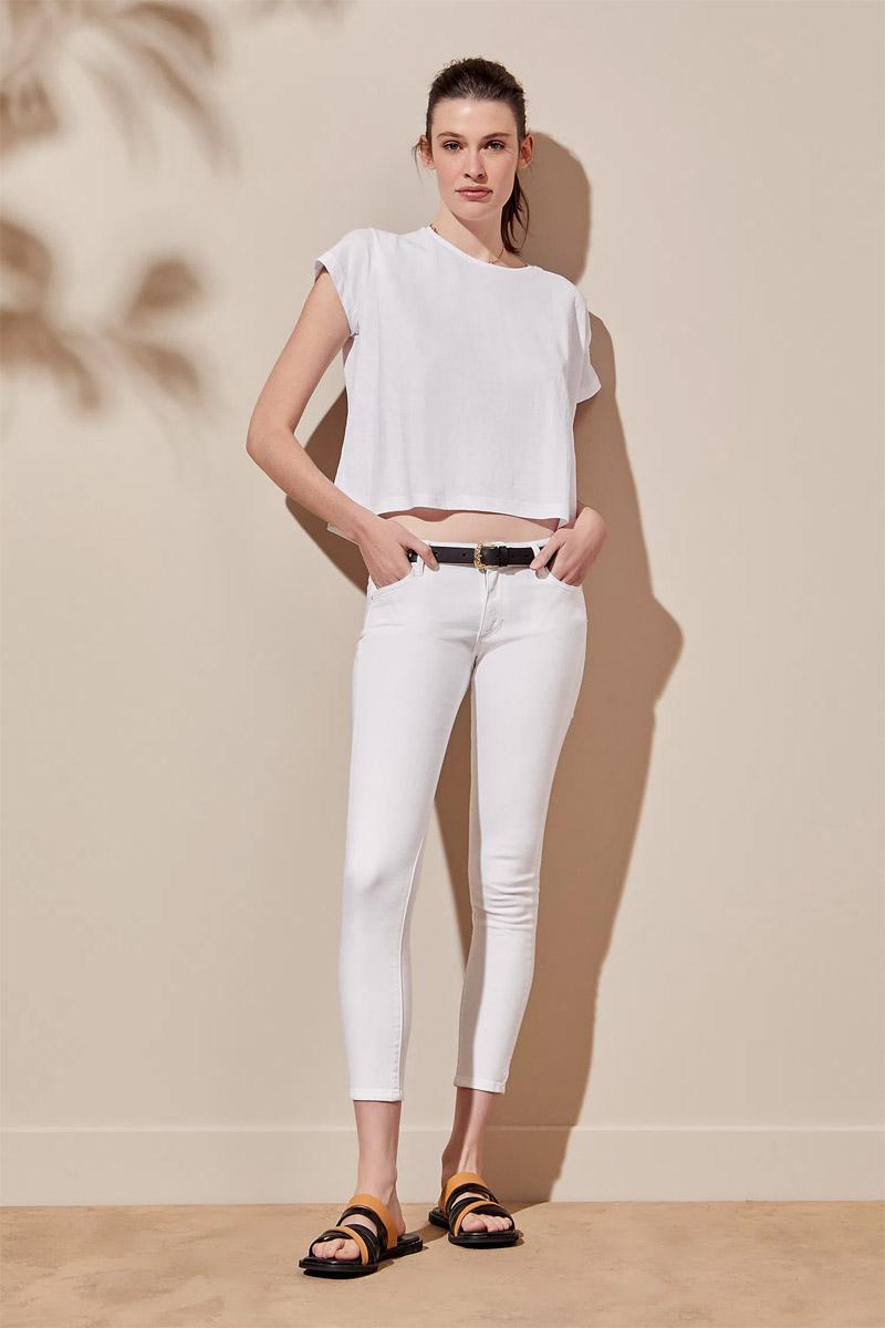 skinny jean blanco verano 2022 jeans chupines de mujer blancos