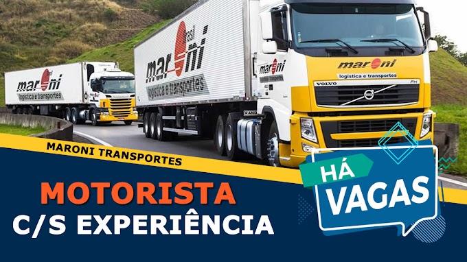 Transportadora Maroni abre vagas para motorista carreteiro sem experiência