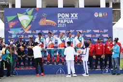 5 Atlet Terjun Payung Papua Terima Medali Emas PON XX