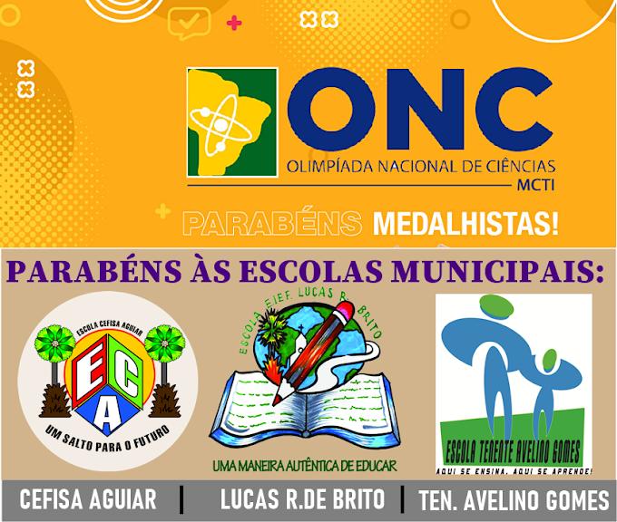 Secretaria da Educação de Cariré parabeniza os alunos premiados na Olimpíada Nacional de Ciências (ONC) de 2021