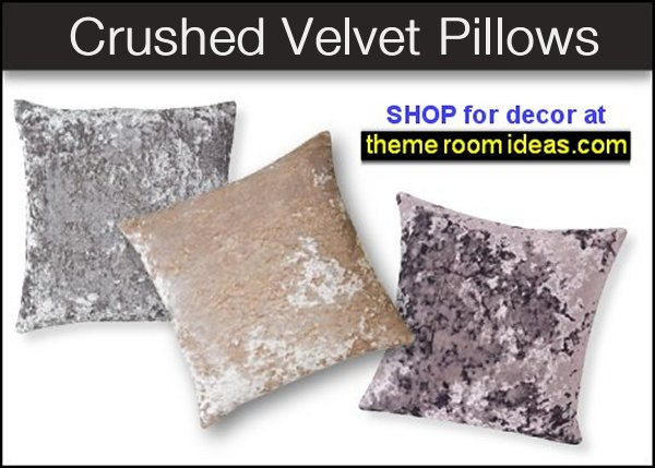 Crushed Velvet  Pillows luxe glam home decor lux glam decorating