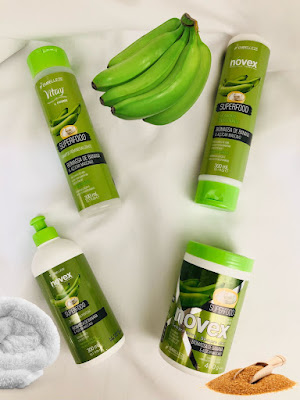 Linha Novex Superfood Biomassa de Banana e Açúcar Mascavo