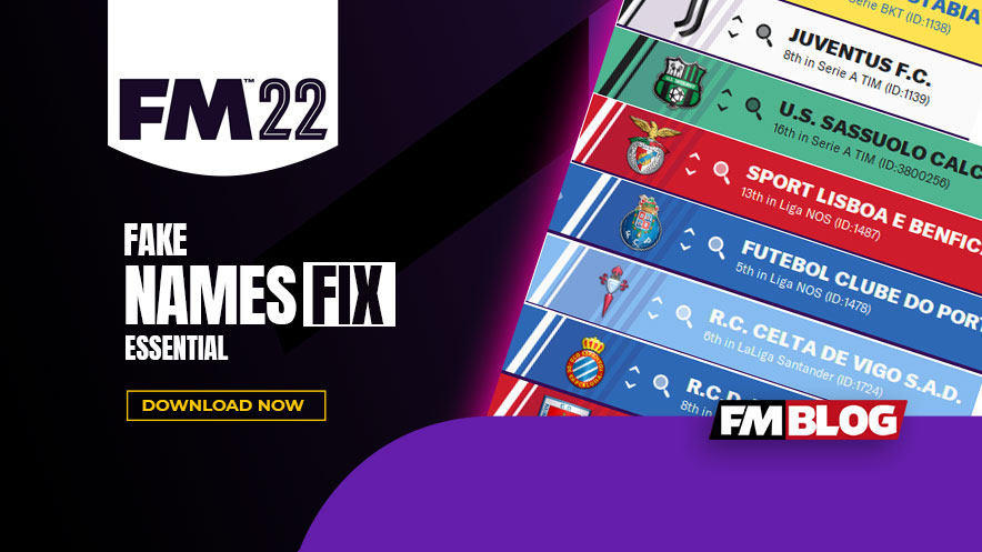 Football Manager 2022 Real Name Fix   FM22