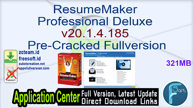 ResumeMaker Professional Deluxe v20.1.4.185 Pre-Cracked Fullversion