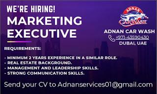 Marketing Executive Jobs Recruitment in Dubai (UAE)