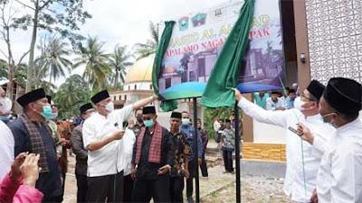 Gubernur Sumbar Resmikan Masjid Al Ahmad dan Pembangunan Gedung A Cupak Islamic Boarding School