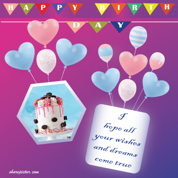 happy birthday frames png