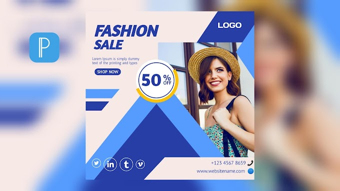 Fashion Sale Flyer Design Concept On Smartphone Using Pixellab [Android & iOS]