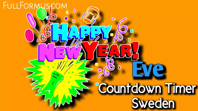 New Year's Eve in Sweden Countdown 2021