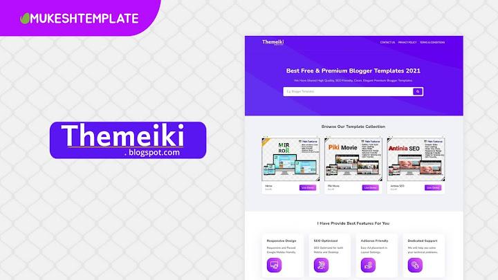 Themeiki - Premium Responsive Clone Blogger Template