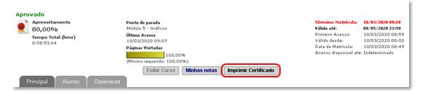 Como Imprimir o Certificado do Curso Online de Finanças Pessoais GRATUITO Com Certificado de Conclusão