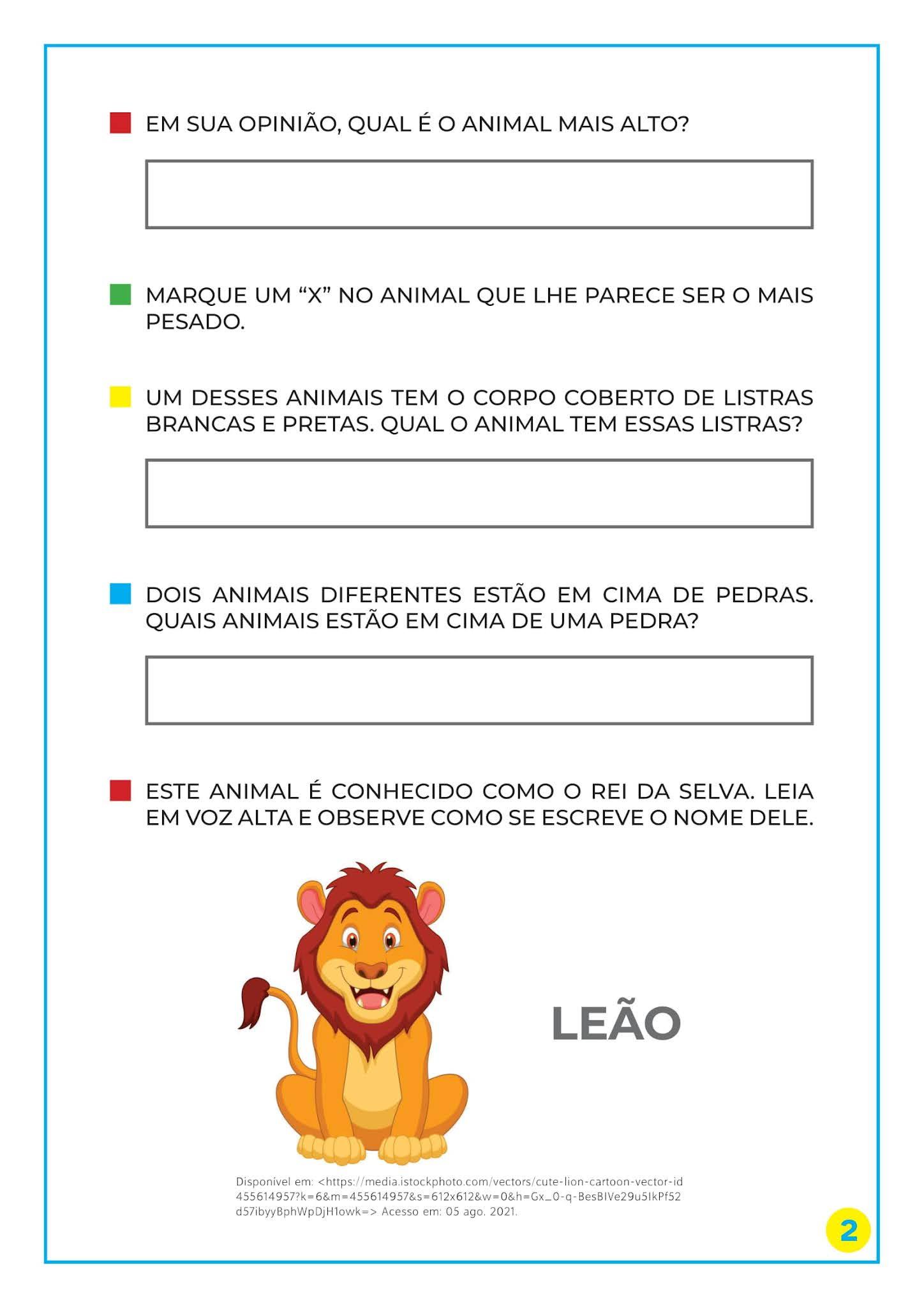Atividades para estabelecer relações de comparação entre objetos - Educação Infantil