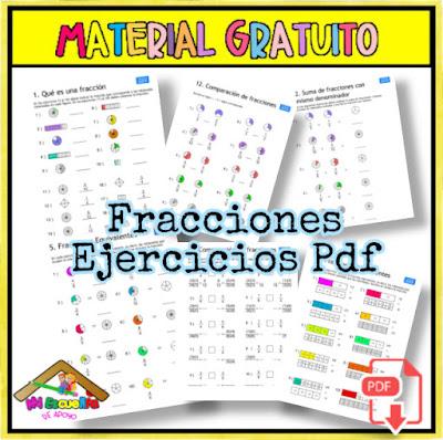 fracciones ejercicios pdf