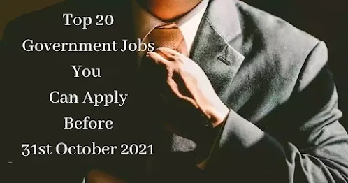 Top 20 Government Jobs