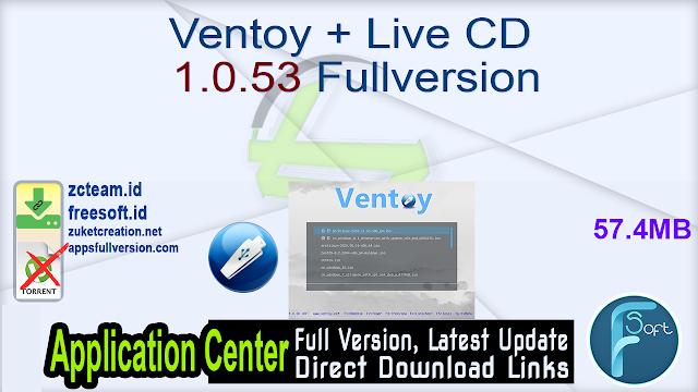 Ventoy + Live CD 1.0.53 Fullversion