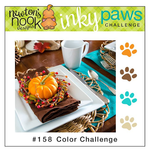 Newton's Nook Designs Inky Paws Challenge - Color Challenge