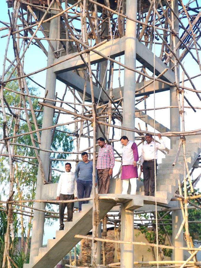 विधायक शुक्ला ने निर्माणधीन पानी के टैंक का किया निरीक्षण, अधिकारियों को लापरवाही न करने के दिए निर्देश ।