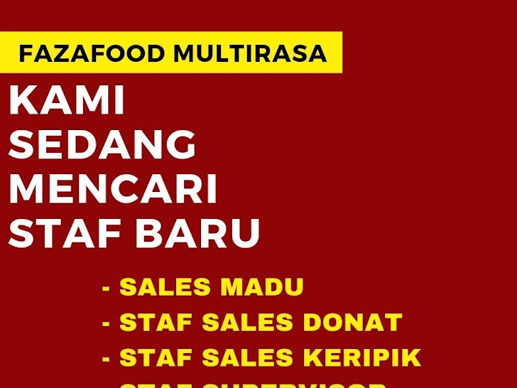 Lowongan Kerja Fazaela Fazafood Multirasa Mataram Lombok NTB