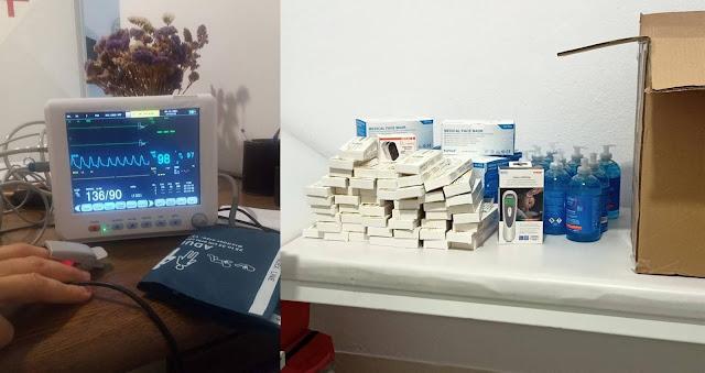Δωρεά ιατρικού εξοπλισμού στο ιατρείο Σαγιάδας