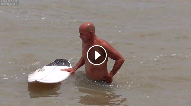 Kelly Slater Surfing in Medewi point break and beach break West Coast Bali - Indonesia
