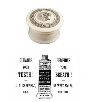 in 1892 dr. Connecticut's Washington Sheffield was the first to put toothpaste in a collapsible tube.