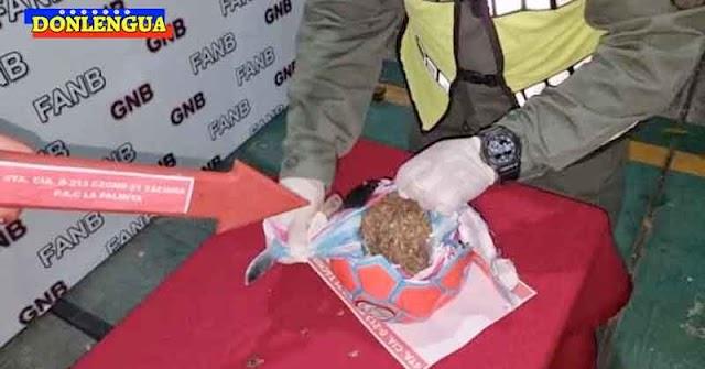 Atrapado en el Táchira intentando cruzar con una pelota de fútbol rellena con marihuana