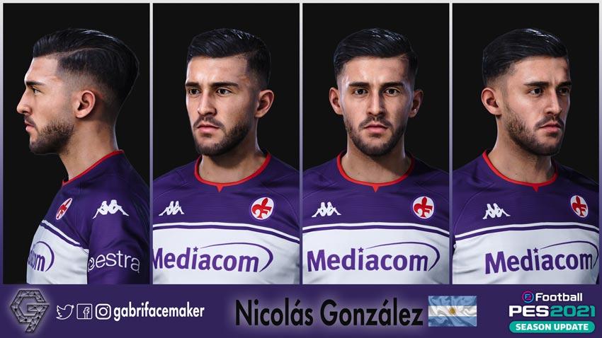 Nicolás González Face For eFootball PES 2021